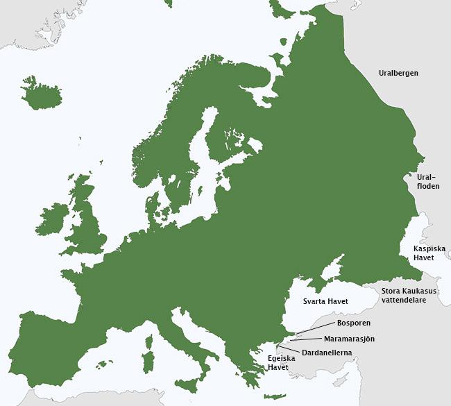Här går gränsen mellan europa och asien